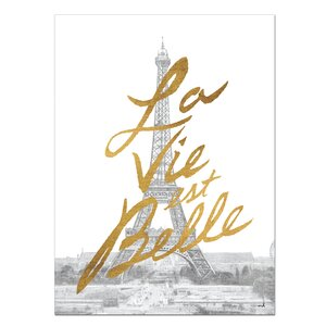 Gilded Paris Graphic Art on Wrapped Canvas by Kate and Laurel