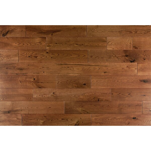 Daphne French 6 Solid Oak Hardwood Flooring in Caramel by Welles Hardwood