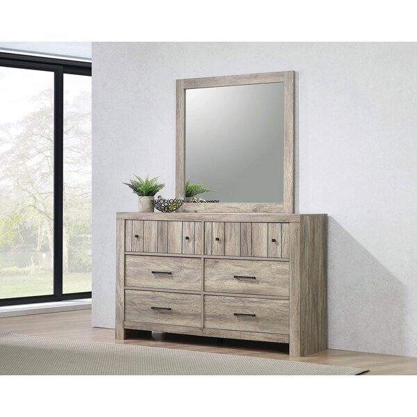 Oberon 6 Drawer Double Dresser with Mirror by Gracie Oaks