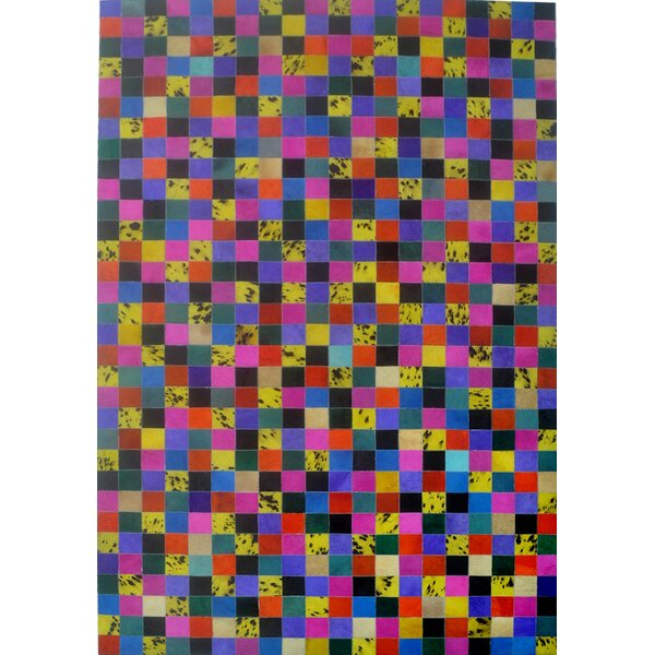 Pink/Yellow/Blue Area Rug by Modern Rugs