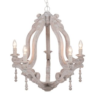 Whitecream chandeliers wayfair work wood electrified 5 light candle style chandelier aloadofball Choice Image
