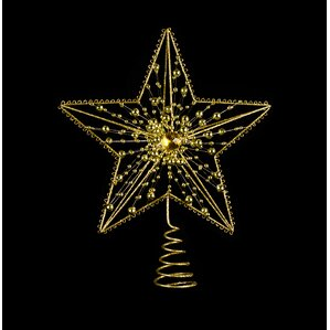 metal jeweled star tree topper set of 2 - Christmas Tree Topper Star