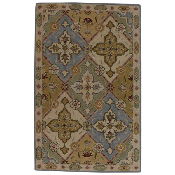 Miranda Agra Oriental Hand-Tufted Wool Blue/Yellow Area Rug by Astoria Grand