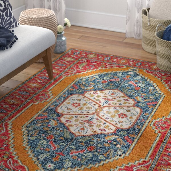 Andersonville Red Area Rug by Bungalow Rose