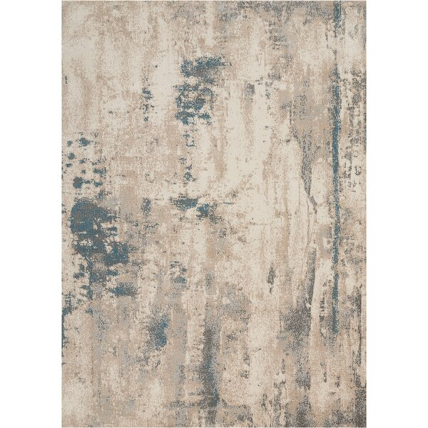 Heffron Ivory/Teal Area Rug by Williston Forge