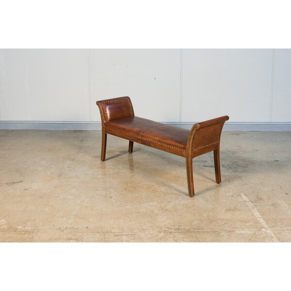 Worthington Leather Bench By Canora Grey