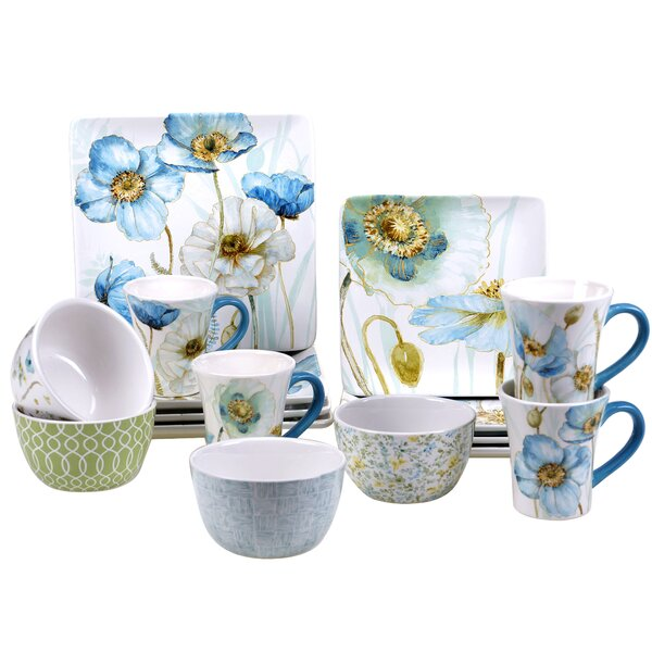 Florac 16 Piece Dinnerware Set, Service for 4 by August Grove