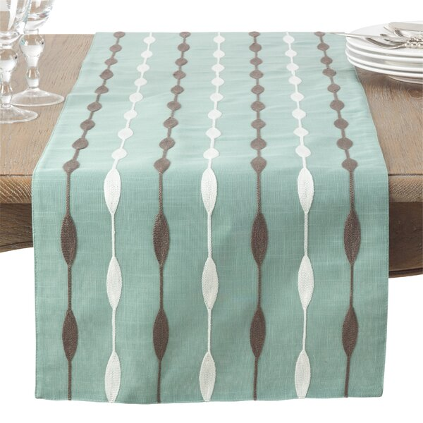 Atropos Modern Embroidery Table Runner by Latitude Run