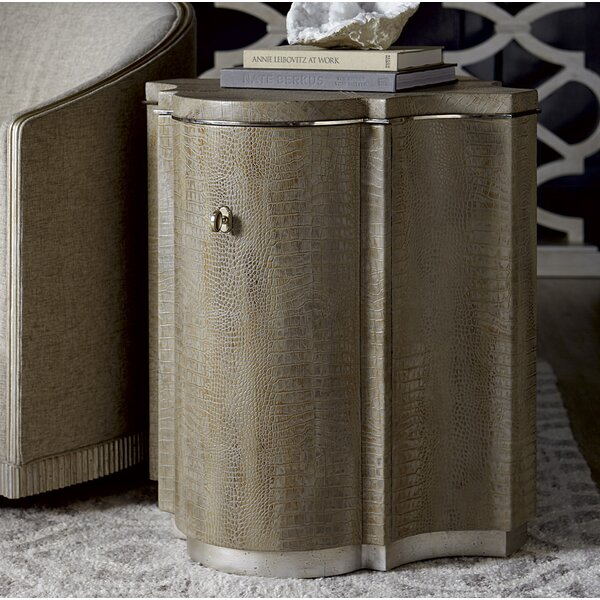 Delahunt Drum End Table by Rosdorf Park