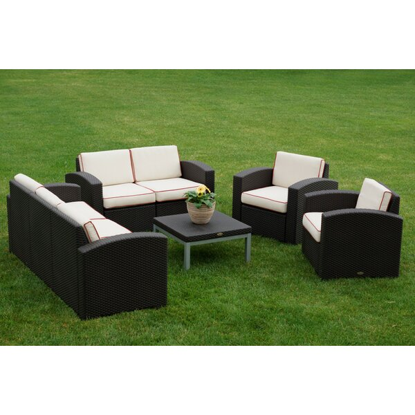 Allie 5 Piece Sofa Set with Cushions by World Menagerie