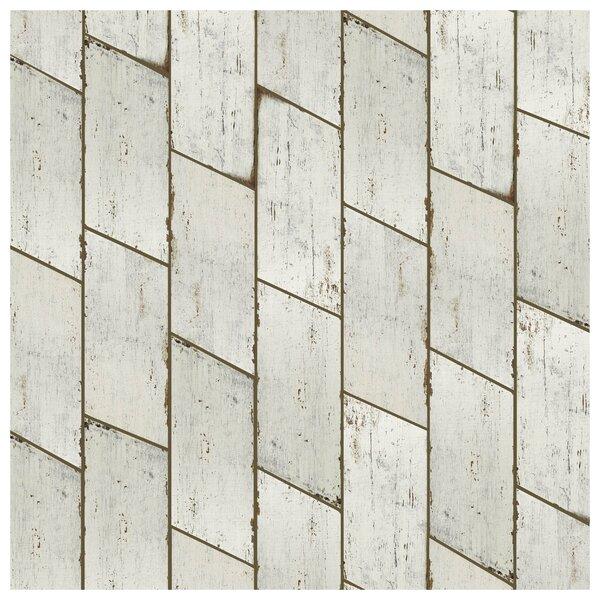 Rama 7.13 x 16.68 Porcelain Wood Look Tile in Blanco by EliteTile