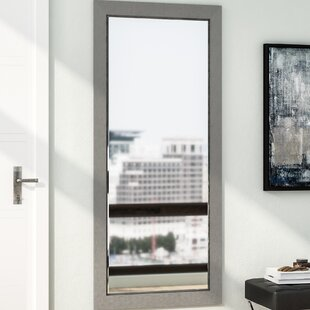 Wade Logan Silver Wood Beveled Wall Mirror