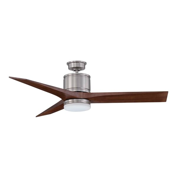 52 Woodstock 3-Blade Ceiling Fan with Wall Remote by Kendal Lighting