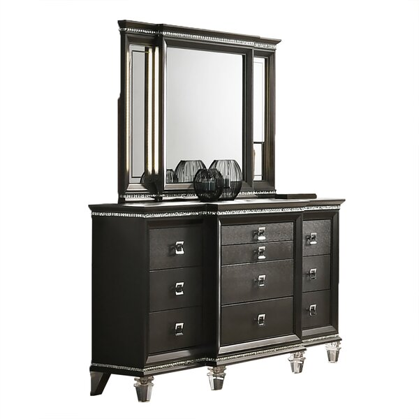 Norwich 10 Drawer Chest With Mirror By Rosdorf Park
