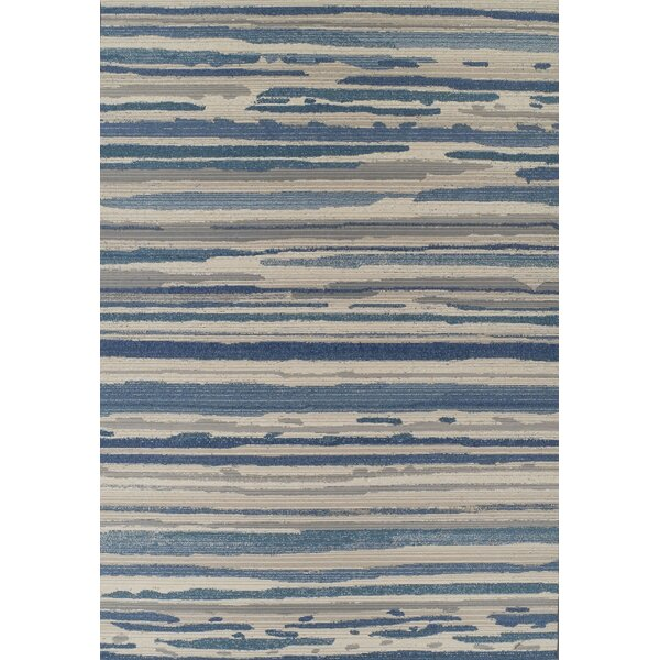 Tilburg Indigo/Beige Indoor/Outdoor Area Rug  by Bloomsbury Market
