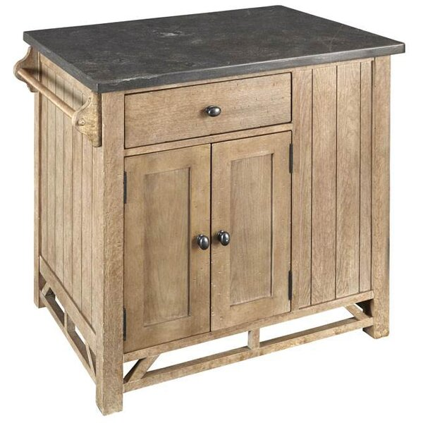Charlize Kitchen Island with Stone Top by Millwood Pines