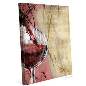 'Artistic Pouring Red Wine Left' Painting Print on Wrapped Canvas by Winston Porter