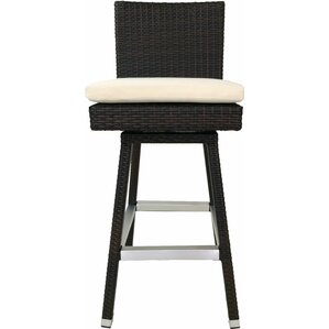 Hilton Swivel Patio 30  Bar Stool with Cushion (Set ...  sc 1 st  Wayfair : patio bar stools swivel - islam-shia.org