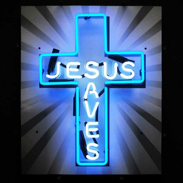 Jesus Saves Neon Sign by Neonetics