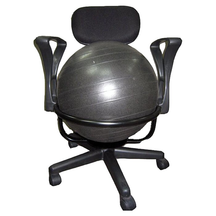 symple stuff high back exercise ball chair & reviews   wayfair