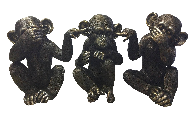 Hear No Evil Coconut Monkey Collectible Figurine