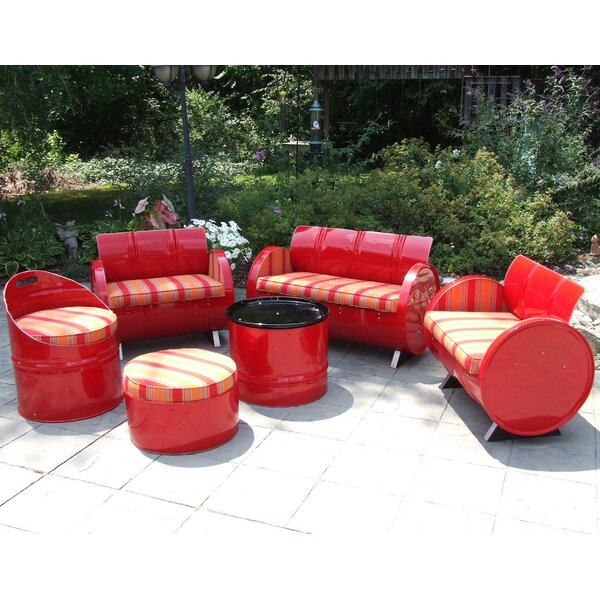 Bravada Salsa 6 Piece Sunbrella Sofa Set with Cushions by Drum Works Furniture