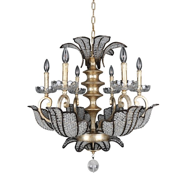 Tiepolo 6-Light Candle Style Classic / Traditional Chandelier By Allegri By Kalco Lighting