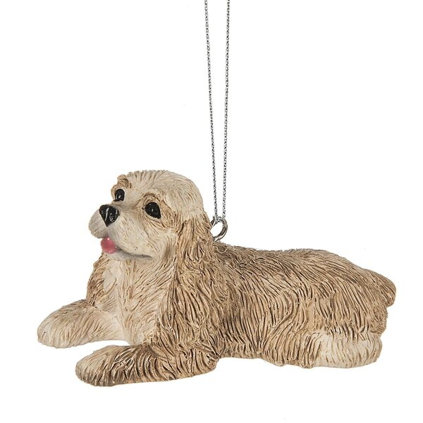 Cocker Spaniel Dog Hanging Figurine by The Holiday