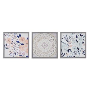 'Summer Bliss' 3 Piece Framed Painting Print Set by Mistana