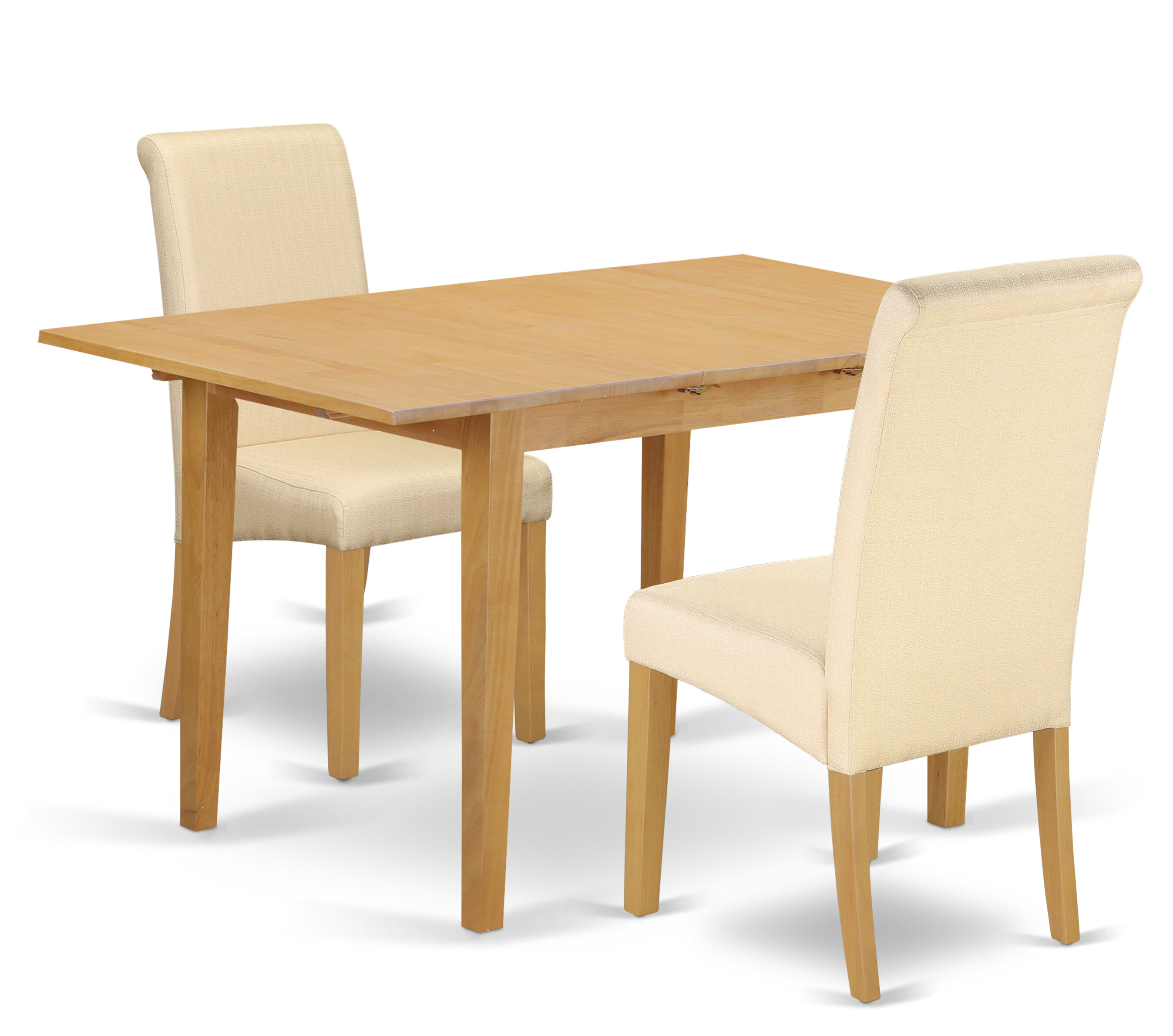 Winston Porter Carlie Kitchen Table 3 Piece Extendable Solid ...