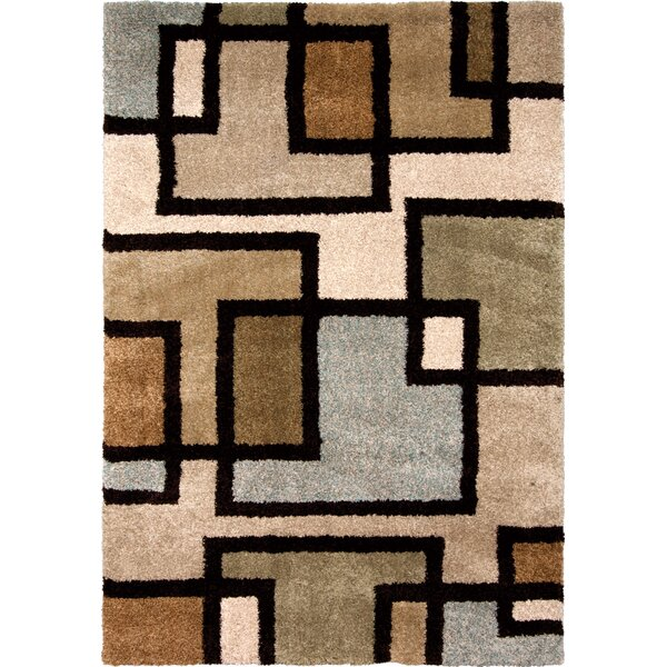 Honoray Huffing Brown/Gray Area Rug by The Conestoga Trading Co.