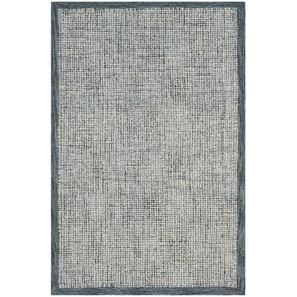 Bloom Hand-Tufted Blue/Beige Area Rug by Mercury Row