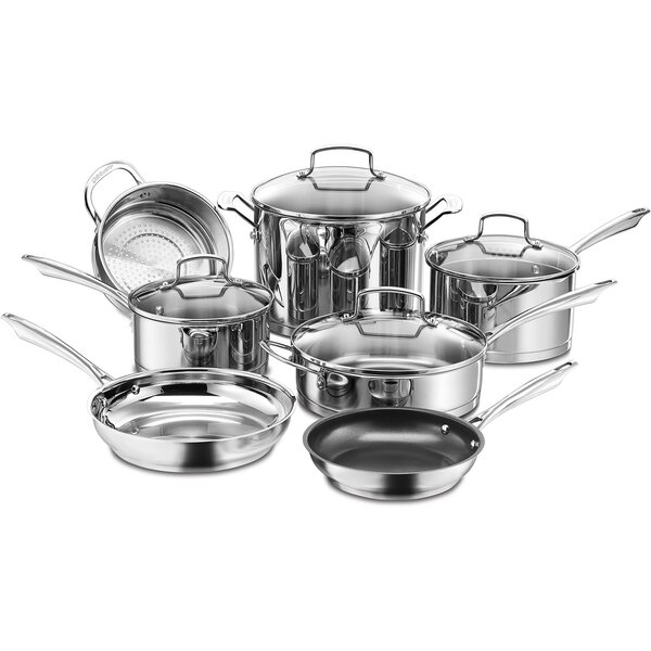 Professional Series Stainless Steel 11-Piece Cookware Set by Cuisinart