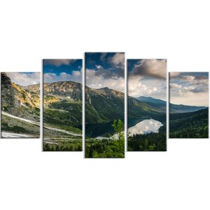 'Summer at Polish Tatra Mountains' 5 Piece Photographic Print on Wrapped Canvas Set by Design Art