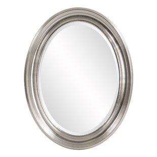 Darby Home Co Oval Metallic Silver Wall Mirror
