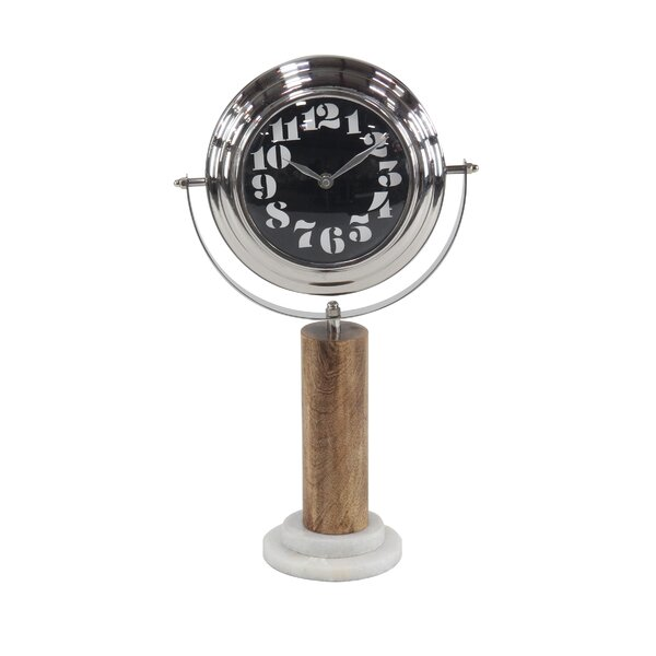 Modern Round Tabletop Clock by Union Rustic