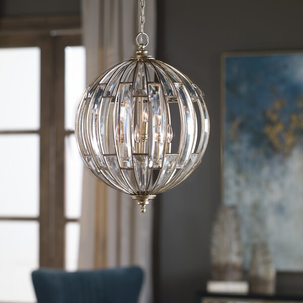 Wembley 6-Light Unique / Statement Globe Chandelier by Astoria Grand Astoria Grand