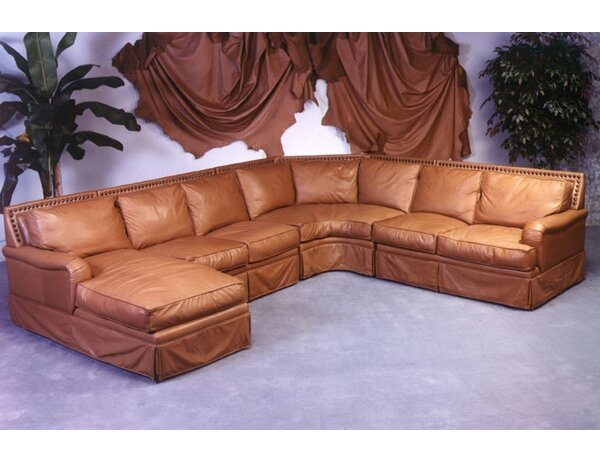 Hacienda 113-inch Right Hand Facing Leather Sleeper Sectional by Omnia Leather Omnia Leather