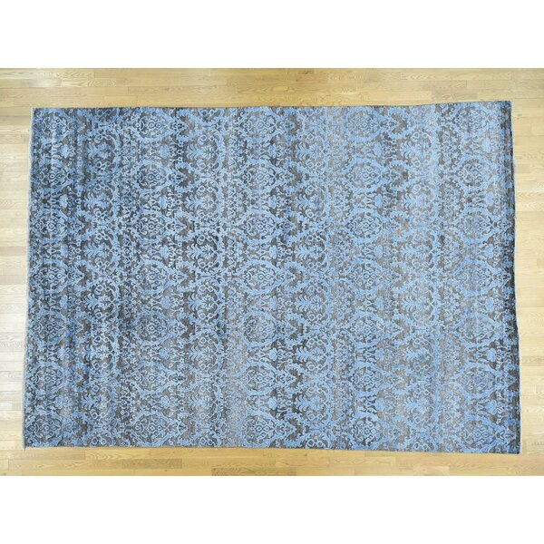 One-of-a-Kind Breann Damask Design Handwoven Wool/Silk Area Rug by Isabelline