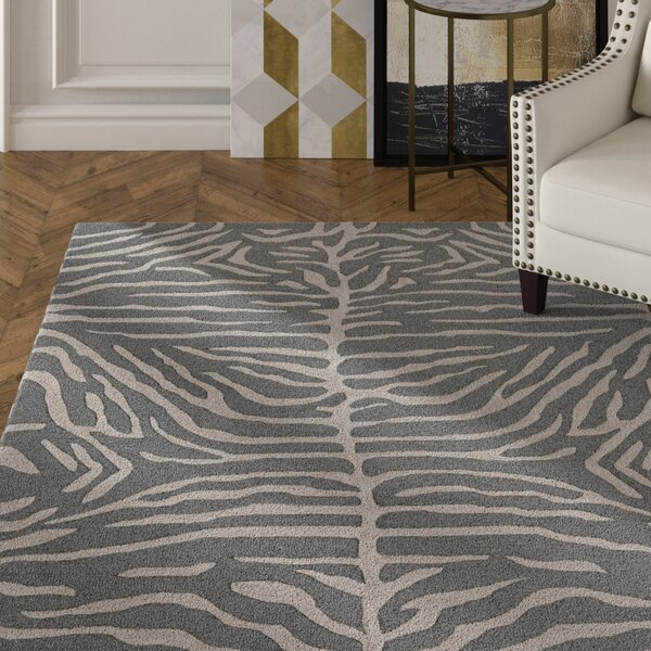 Langner Handmade Slate Area Rug by House of Hampton
