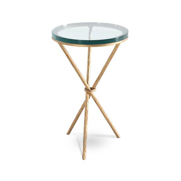 Alicia Pedestal End Table by Joe Ruggiero Collection Joe Ruggiero Collection