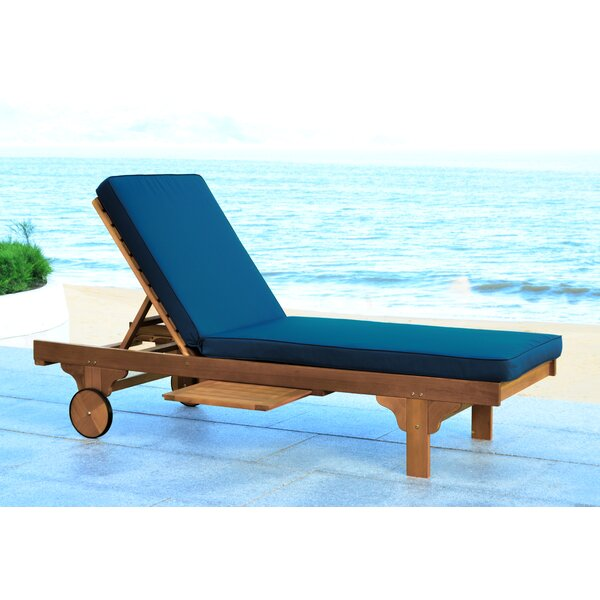 Alvah Reclining Chaise Lounge with Cushion