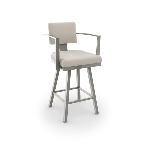 Perrotta 30.25 Swivel Bar Stool by Brayden Studio