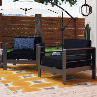 Royalston Patio Chair with Cushions Brayden Studio