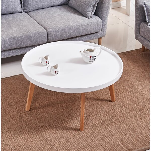 Simeone Raised Edge Coffee Table by Wrought Studio