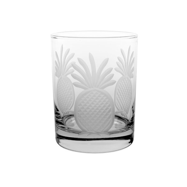 Pineapple 14 oz. Double Old Fashioned (Set of 4) by Rolf Glass
