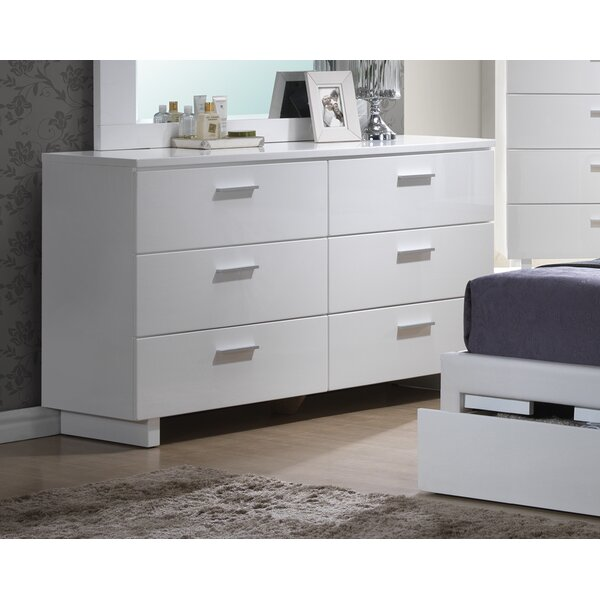 Branchville 6 Drawer Double Dresser by A&J Homes Studio