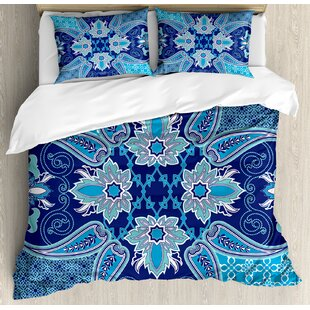 Middle Eastern Oriental Persian Pattern With Arabesque Moroccan Effects Design Duvet Cover Set