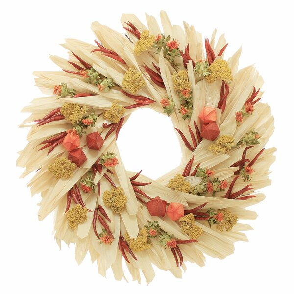 Corn Husk with Chili 22 Wreath by Charlton Home