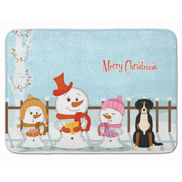 Christmas Greater Swiss Mountain Dog Memory Foam Bath Rug by The Holiday Aisle